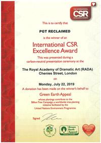 International CSR Excellence Award 2019