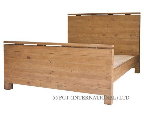 Bayview Collection reclaimed timber bed frame