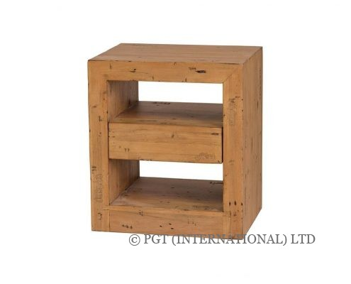 Bayview Collection reclaimed timber bedside cabinet