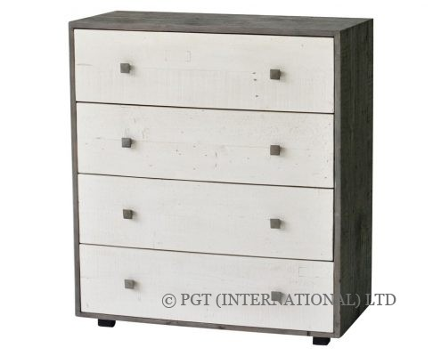 Calais collection reycled timber tallboy