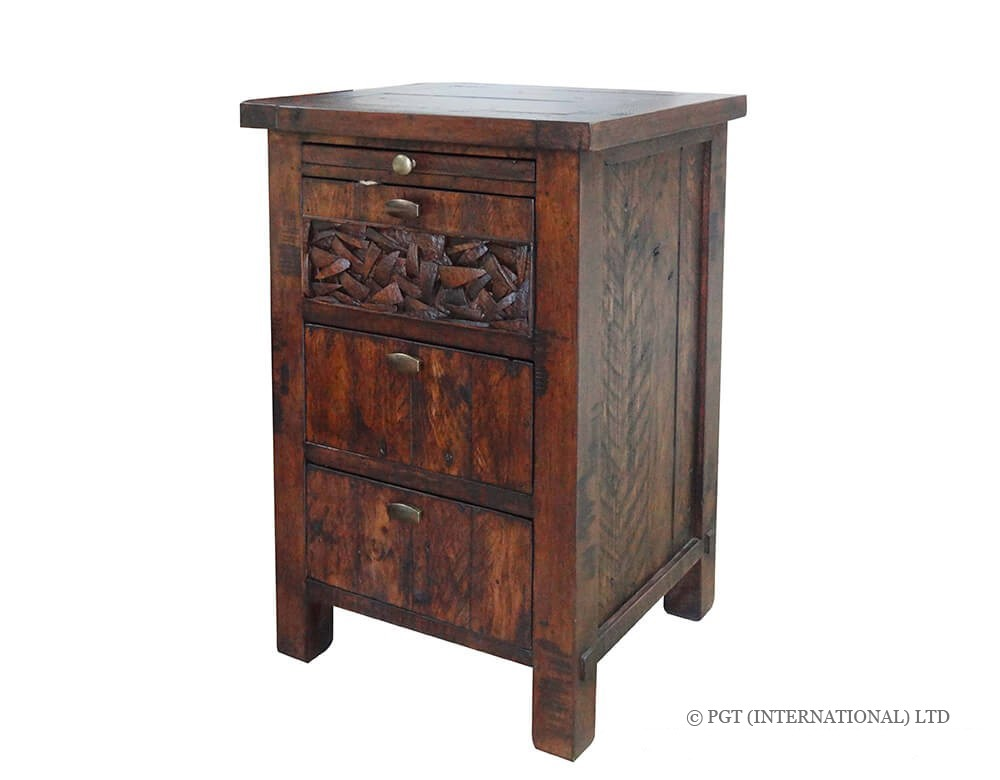 Cocobu Collection reclaimed wood bedside cabinet