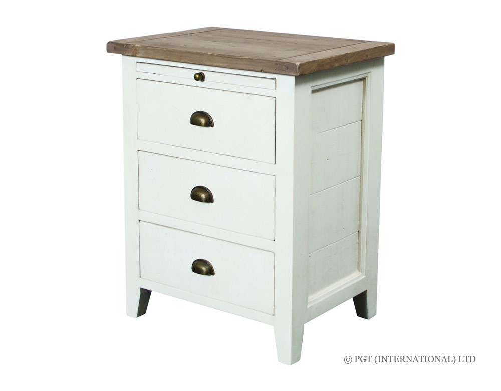 Cotswolds reclaimed timber bedside cabinet