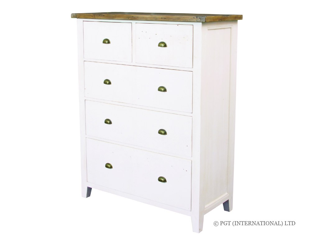 cotswolds sustainable wood tallboy dresser