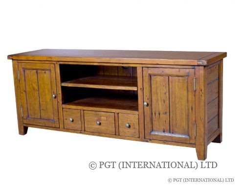 irish coast recycled timber tv cabinet