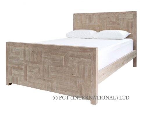 Rhodes reclaimed timber bed frame