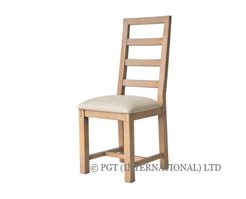 rustic post and rail cushion dining chair