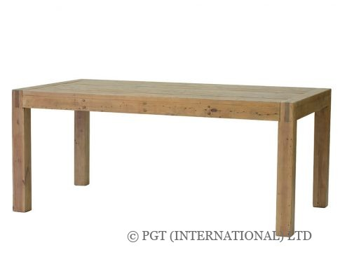 rustic post and rail dining table
