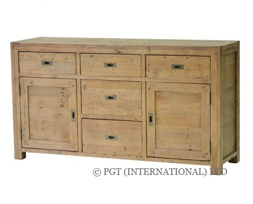 rustic post and rail buffet