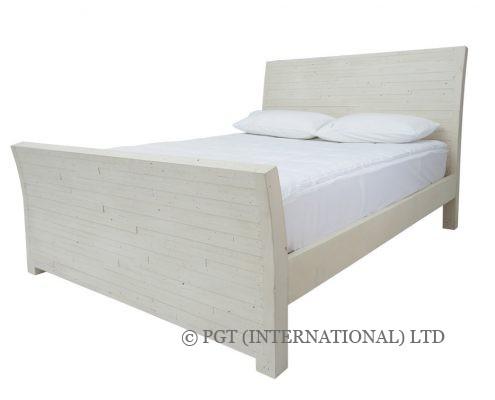 Santorini rustic timber bed frame
