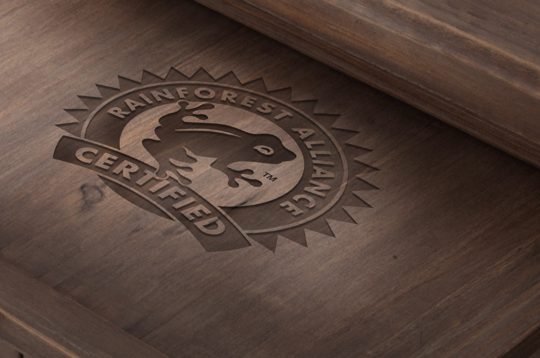 Rainforest Alliance certified sustainable timber