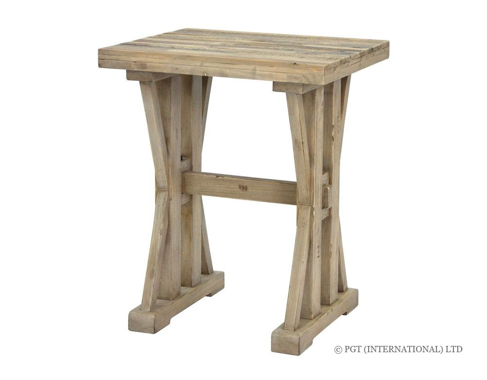 TuscanSpring Collection recyled wood corner table