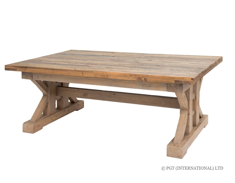 tuscanspring recycled wood coffee table