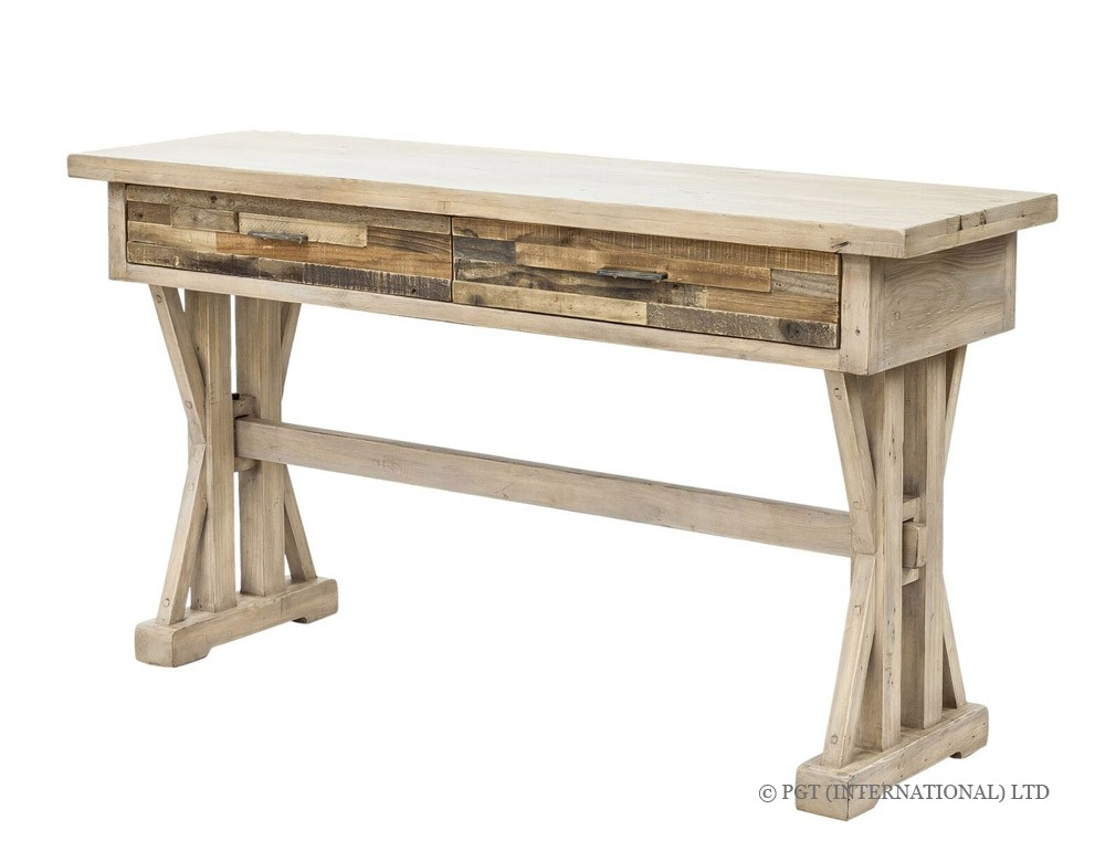 Tuscanspring Collection reclaimed timber hallway table