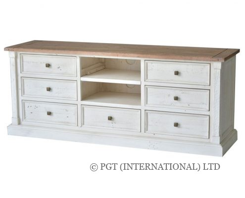 Cornwall collection recycled timber tv cabinet